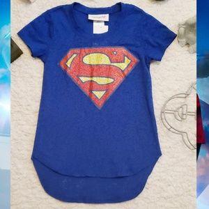 * NWT* DC Comics Supergirl Girls Blue Burnout Tee